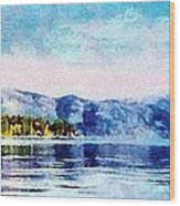 Blue Tahoe Wood Print