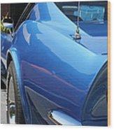Blue Tail Wood Print