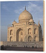 Taj Mahal In Evening Light Wood Print