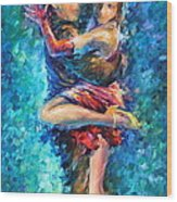 Blue Tango 1 Wood Print