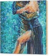 Blue Tango 2 Wood Print