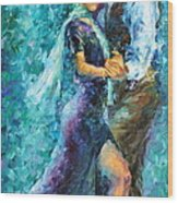 Blue Tango 3 Wood Print