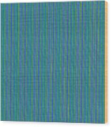 Blue Teal And Yellow Striped Textile Background Wood Print