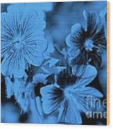 Blue Tears Wood Print