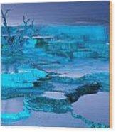 Blue Terrace Wood Print
