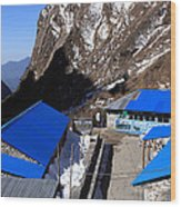 Blue Tin Roof Wood Print