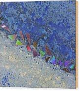 Blue Trail Wood Print