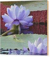 Blue Tranquillity Wood Print