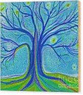 Blue Tree Sky By Jrr Wood Print