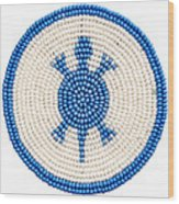 Blue Turtle Wood Print
