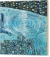 Blue Turtles Wood Print
