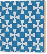 Blue Twirl Wood Print