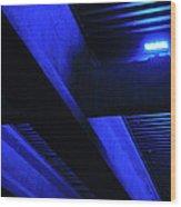 Blue Underpass Wood Print
