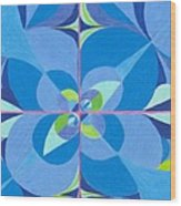 Blue Unity Wood Print