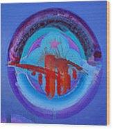Blue Untitled Image Wood Print