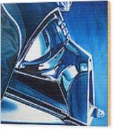 Blue Vader Wood Print
