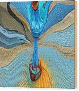 Blue Valve Wood Print