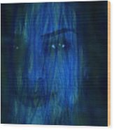 Blue Veil Wood Print