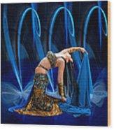 Blue Veils Wood Print