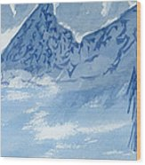 Blue View #2 Wood Print