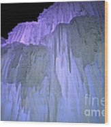 Blue Violet Ice Mountain Wood Print