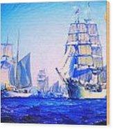 Blue Voyage To Serenity Wood Print