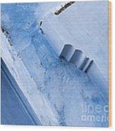 Blue Wall 03 Wood Print