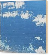 Blue Wall Wood Print