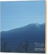 Blue Wall Clouds 1  Wood Print