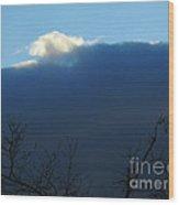 Blue Wall Clouds 2 Wood Print
