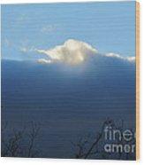 Blue Wall Clouds 3 Wood Print
