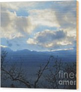 Blue Wall Clouds 4 Wood Print