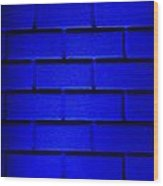 Blue Wall Wood Print by Semmick Photo