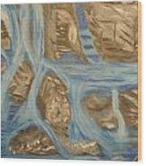 Blue Water Dancing  Wood Print