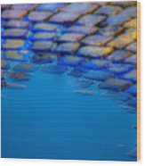 Blue Water Wood Print