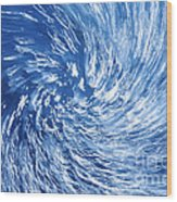 Blue Water Twister Abstract Wood Print