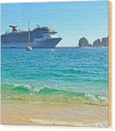Blue Waters Of Cabo Wood Print
