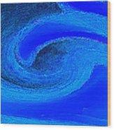 Blue Waves Wood Print