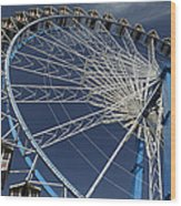 Blue Wheel In The Sky Wood Print