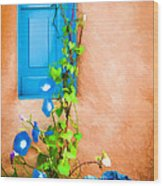 Blue Window - Painted Wood Print