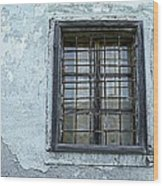 Blue Window/piran Wood Print