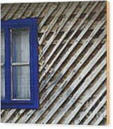 Blue Window Wood Print