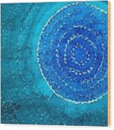Blue World Original Painting Wood Print