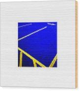 Blue Yellow_09.27.12 Wood Print