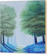 Bluebells Wood Print by Carola Ann-Margret Forsberg