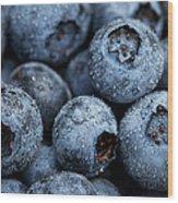 Blueberries Fruits Wood Print