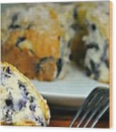 Blueberry Bundt Cake Wood Print