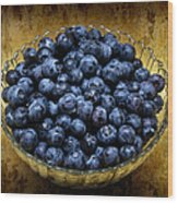 Blueberry Elegance Wood Print by Andee Design