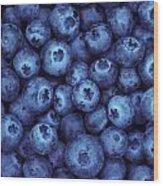 Blueberry Harvest Wood Print by Greg Vaughn