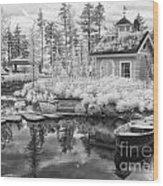 Blueberry Pond  Wood Print
